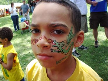 Picture of my son Chris with face painted